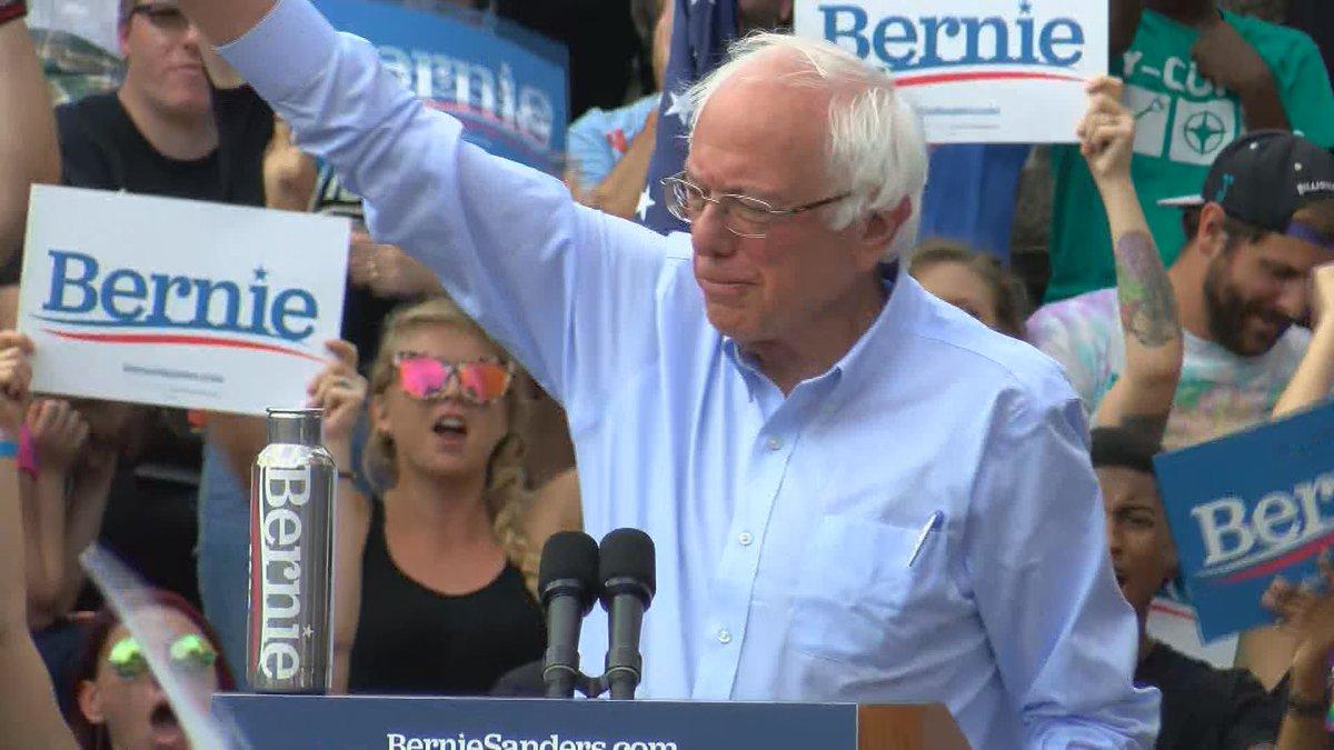 Bernie Sanders held a rally in Louisville on Sunday.