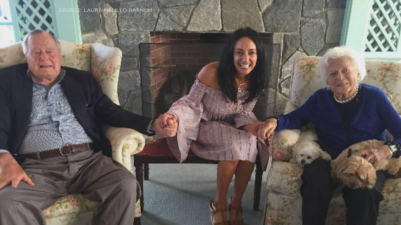 Laura Melillo Barnum spent time with the Bush's in Kennebunkport, Maine just this year.