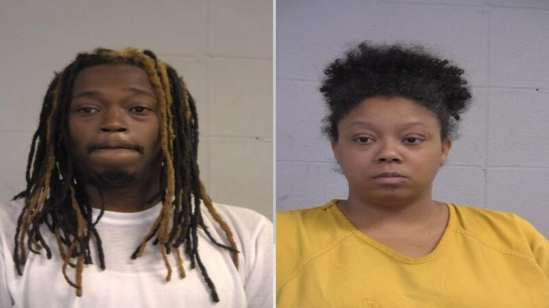 Daeshon Lunsford (left) and Desaray Yarbrough (right) were arrested on Friday night by LMPD...