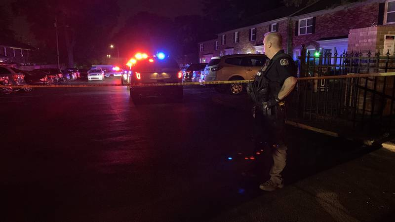 The shooting was reported around 11:15 p.m. at Jamestown apartments, located in the 800 block...