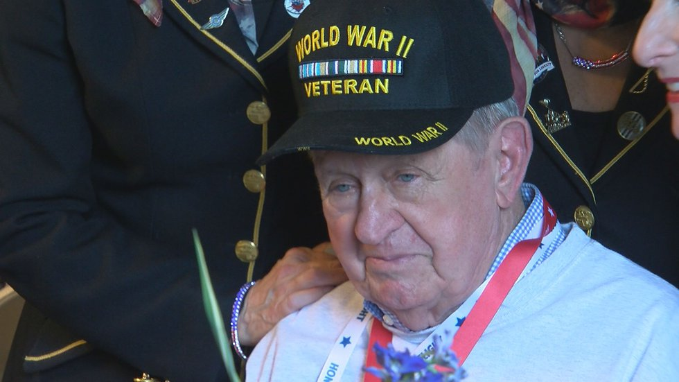 Most attending WWII veterans were in their 90's, with some over 100.