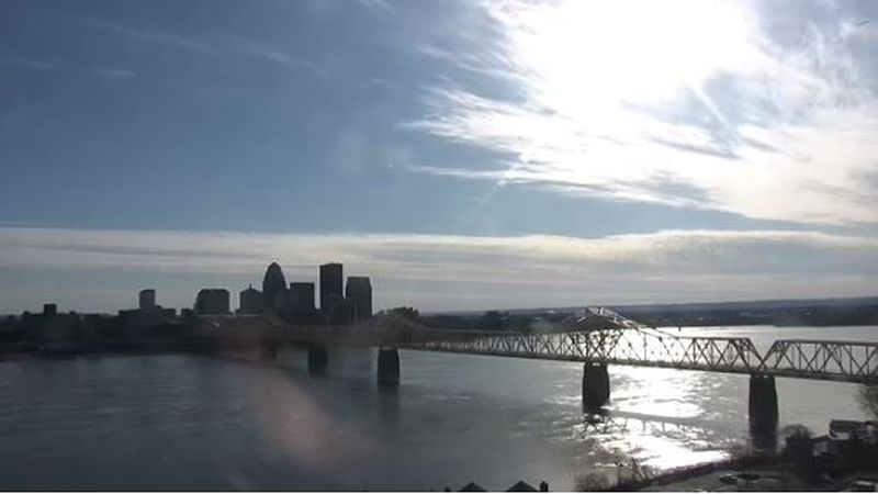 The downtown Louisville skyline as seen from the Campbellsville University Louisville SkyTrack...