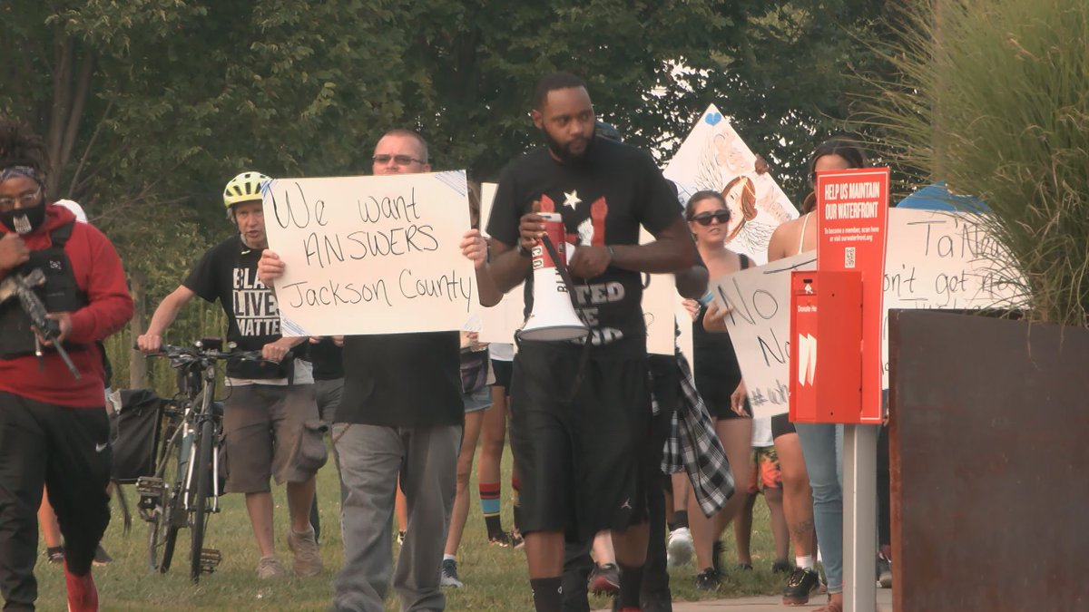 Over the weekend, a group of protesters were on the ground, in the streets of Louisville...