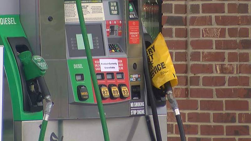Pumps sit idle at gas stations in Charleston amid panic buying and a supply crunch. GasBuddy...