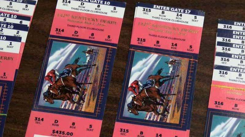 Derby 142 tickets for sale at Derbybox.com. (Source: Dale Mader, WAVE 3 News)