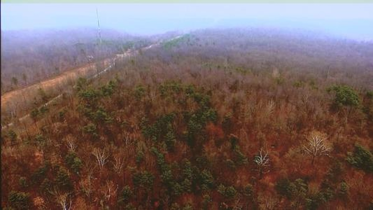 map of proposed LG&E pipeline through Bernheim Forest video still