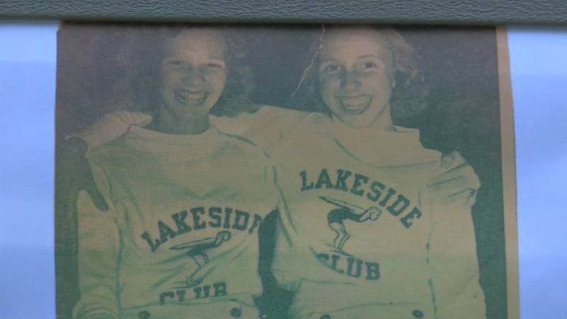 Ann Hardin and Mary Moorman Ryan were the first Olympians from Lakeside Swim Club in 1940