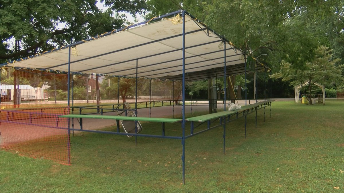 Set-up is underway for the 170th St. Joe's Picnic for the Kids, taking place this weekend.
