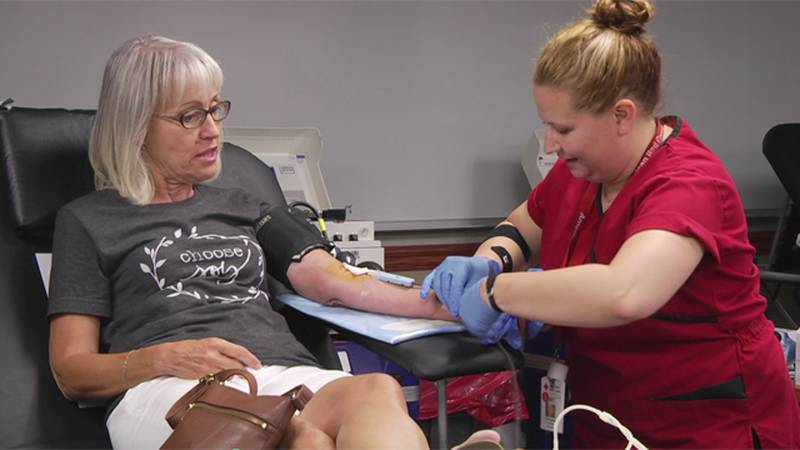 If you give blood you'll get a free test to see if you've been exposed to the coronavirus.