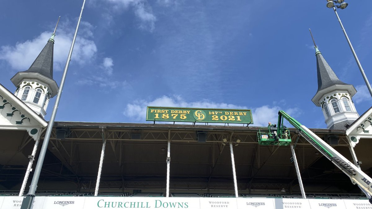 From Derby 146 to Derby 147, the new sign has been installed on the Grandstand at Churchill...