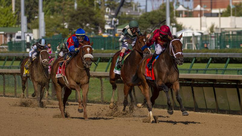 With Florent Geroux aboard, SheDaresTheDevil captured the Kentucky Oaks in an upset at...