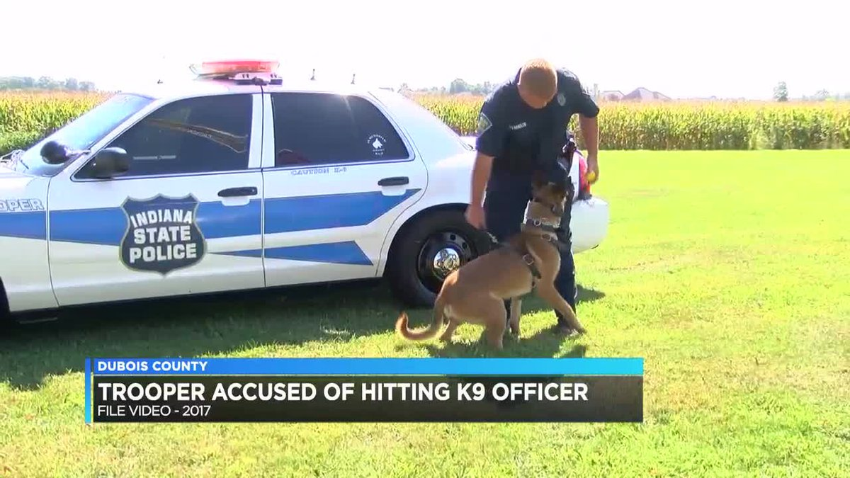 ISP: Trooper charged for striking K-9 in training session