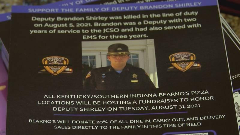 Bearno's Pizza hosts a fundraiser to raise money for fallen Jefferson County Sheriff's Deputy...
