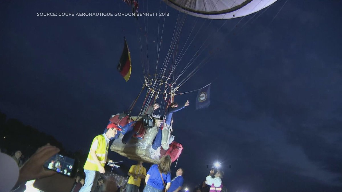 Bill Smith and his pilot took off in their balloon from Switzerland.