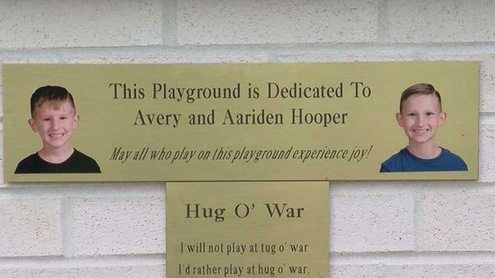 The playground is dedicated to Avery and Aariden Hooper. (Source: WAVE 3 News)