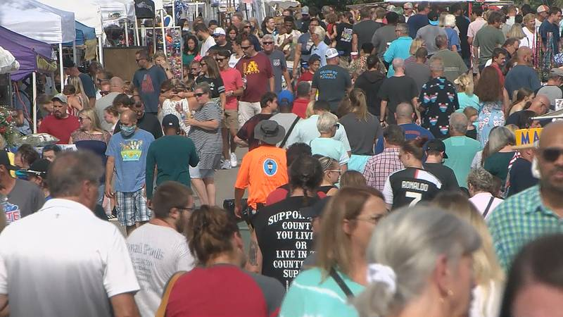 Festival-goers at the Gaslight Festival in Jeffersontown.