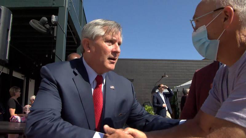 David Nicholson announced his bid for mayor at Colonial Gardens on Thursday.