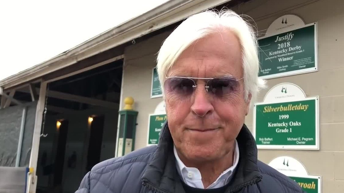 Currently, only trainer Bob Baffert is suspended from Churchill Downs.