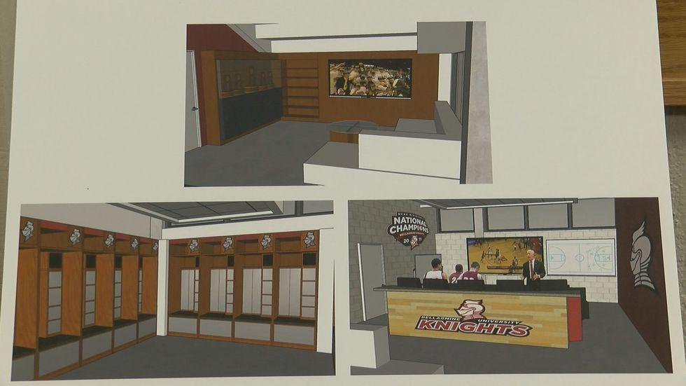 Renderings of the Bellarmine men's basketball player performance center. (Source: Michael...