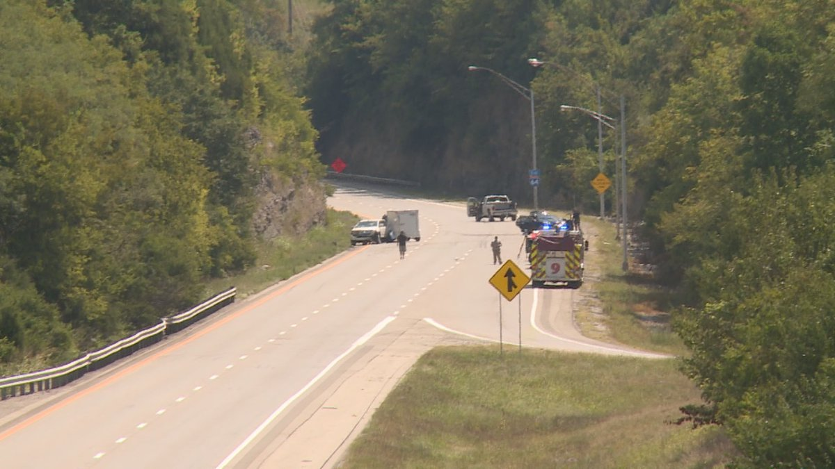 The crash shut down lanes of I-64 E for hours as police investigated.