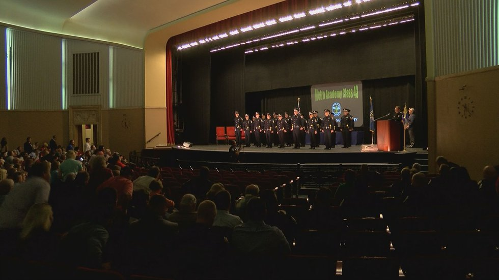 The recruit class which began with 50 people resulted with 23 being sworn ina  Louisville Metro...