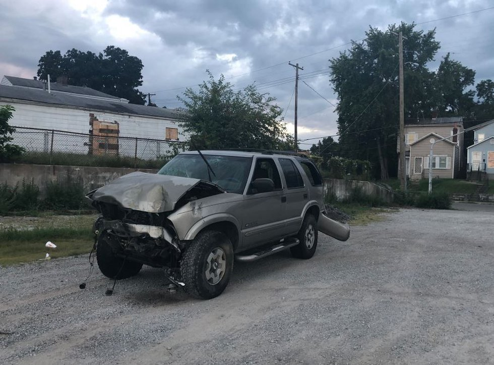 Another vehicle was involved in the crash. (Source: WAVE 3 News)