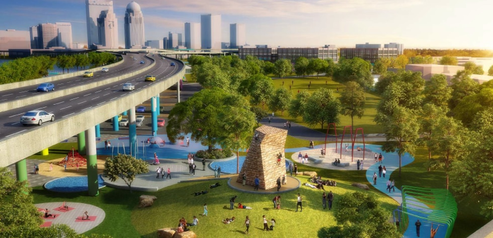 """A planned """"exerscape"""" area for Waterfront Park Phase IV"""
