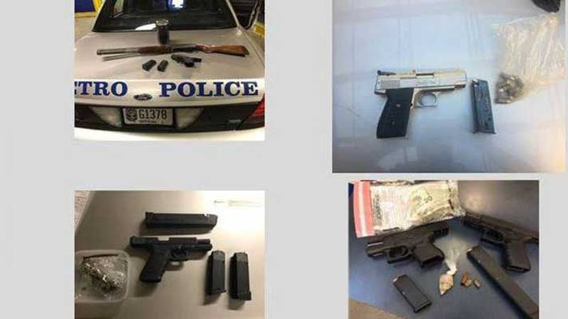 Photos of some of the 100 guns taken off the streets in 1001 days by the LMPD 4th Division....