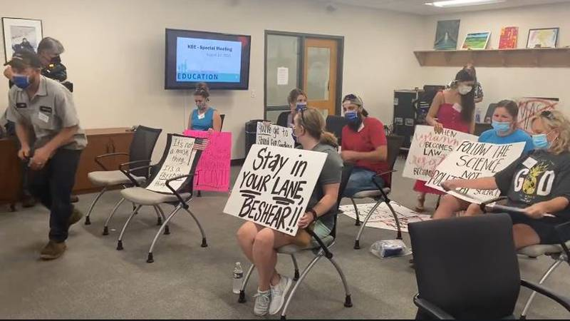The Kentucky Board of Education is holding an emergency meeting Thursday to discuss masks.