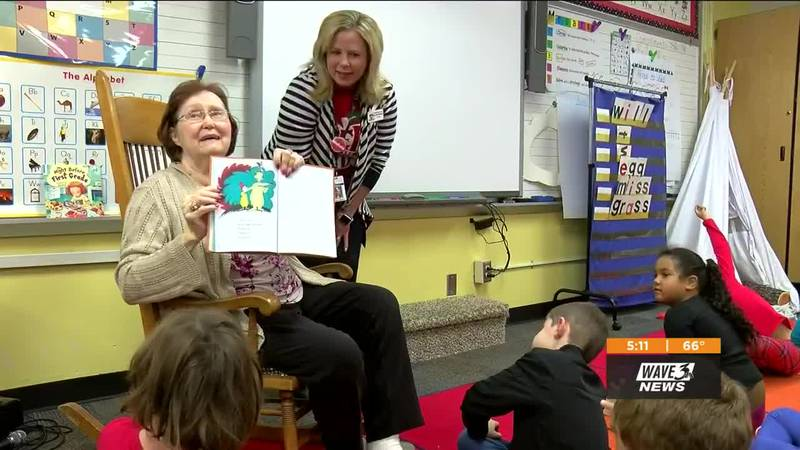Carolyn Kemp suffers from Alzheimer's. On Wednesday she stopped by Clarksville Elementary...