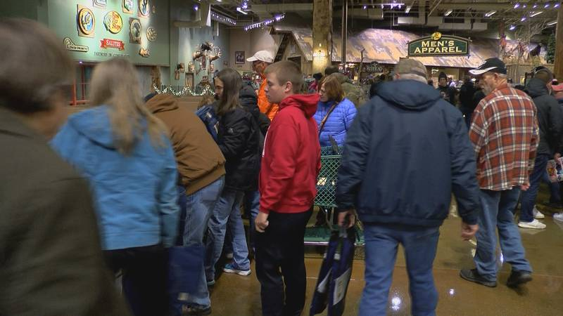 Shoppers in Clarksville packed into the Bass Pro Shops for deals on a recent Black Friday.