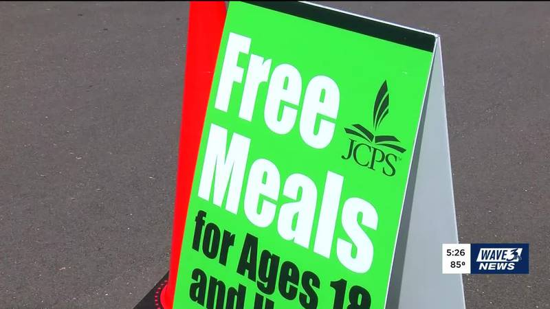 """JCPS """"Free Meals"""" sign"""