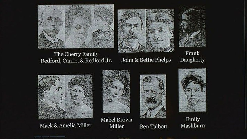 These are some of the victims of the 1917 train crash. (Source: Charlie Hartley)