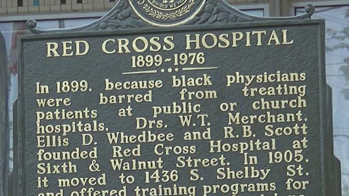 The Red Cross Hospital Historical Marker (Source: WAVE 3 News/ Michael Williams)