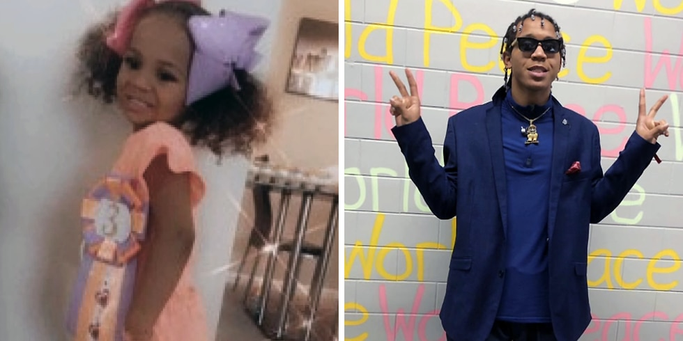 Trinity Randolph and her father, Brandon Waddles