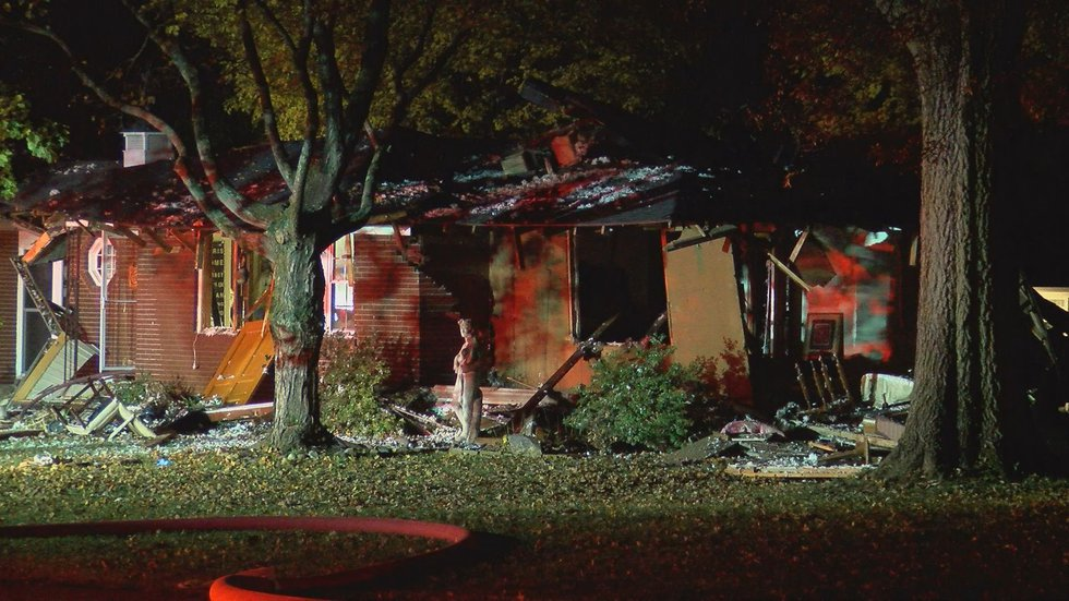 Part of the home collapsed. (Source: WAVE 3 News)