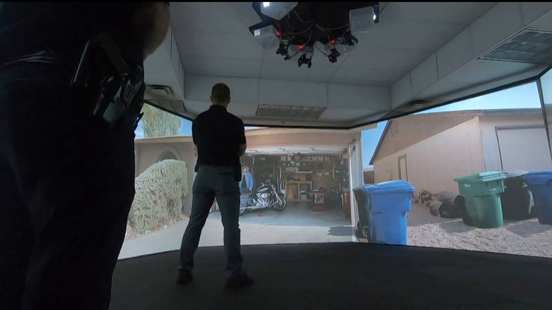 On Tuesday, LMPD showed members of the media the department's VirTra trainer, a virtual...