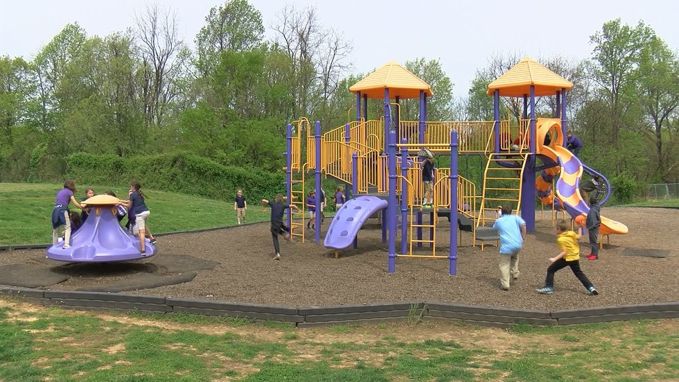 This playground was built to honor Kathy Netherland, a special needs teacher, at Bardstown...