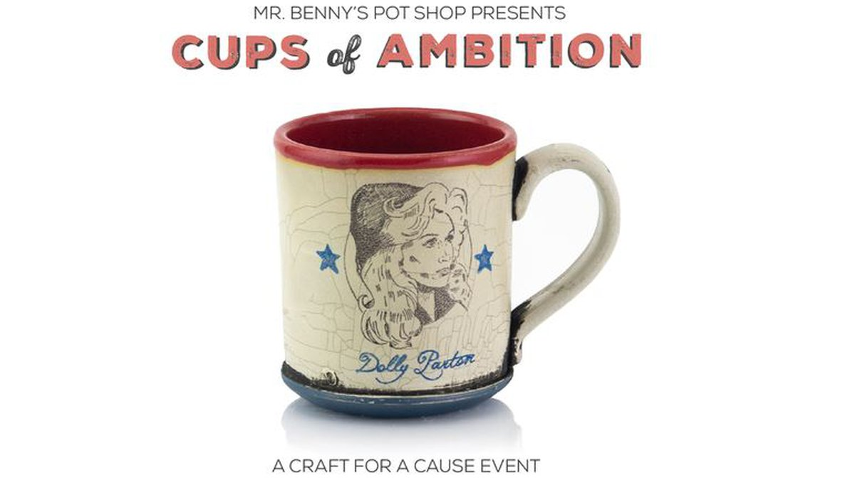 Mugs with images of Dolly Parton from six artists are being sold online and the proceeds are...