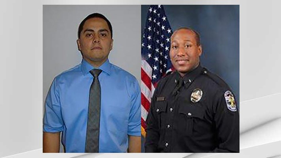 Officer Chase Barrett (left) and Officer Brenton Woodford have been identified as the...