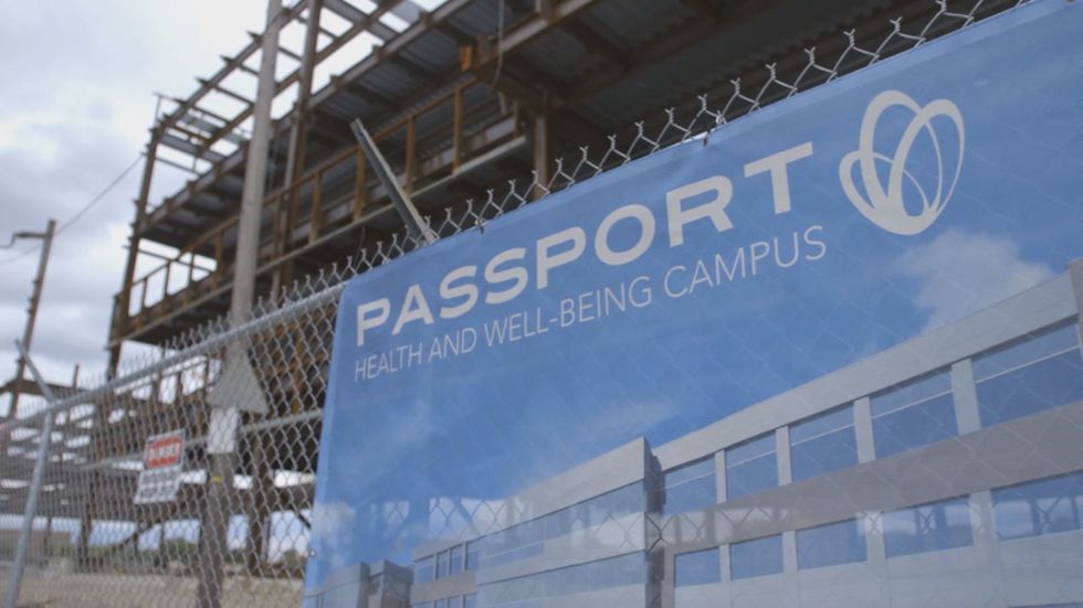 Construction of the new Passport headquarters ceased in February. (Source: WAVE 3 News)