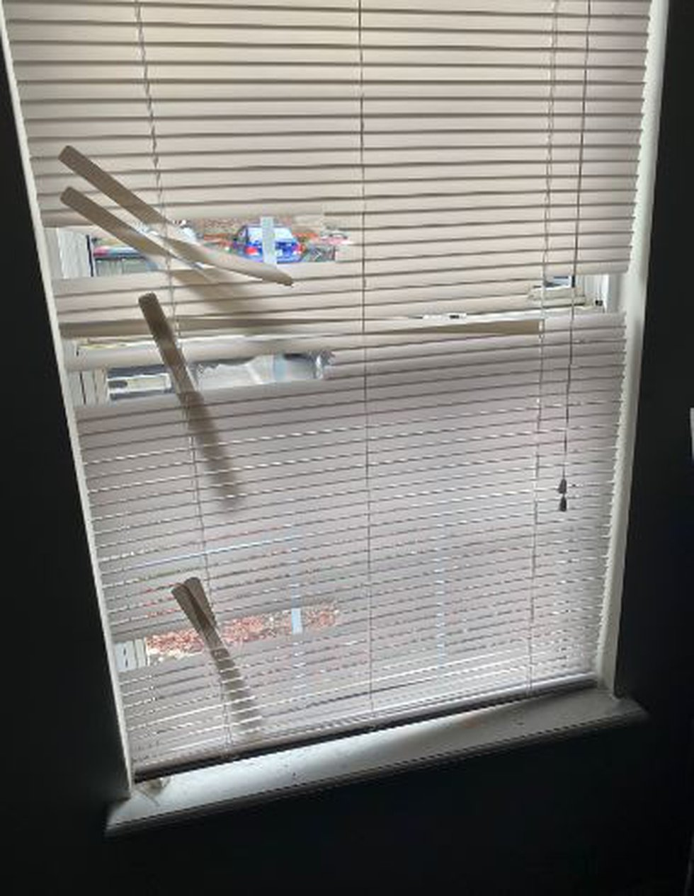 The inside of Breonna Taylor's apartment as seen after the shooting that killed her.