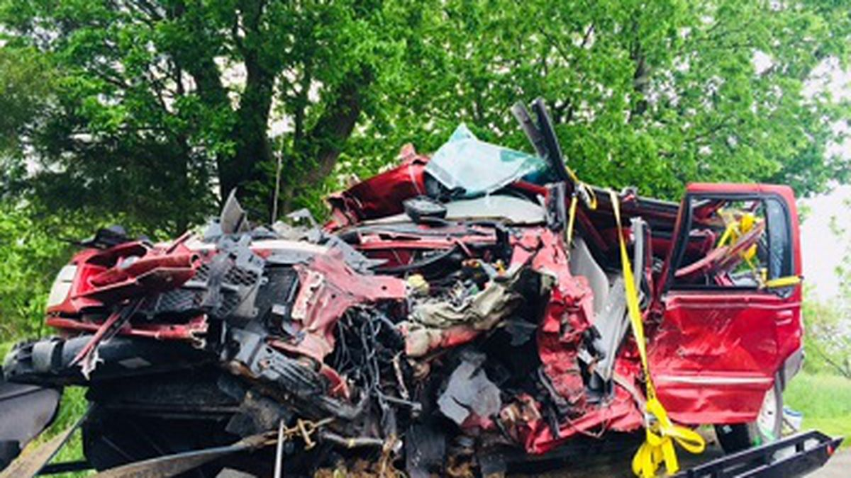 Officials said the crash was reported on Spurrier Road.