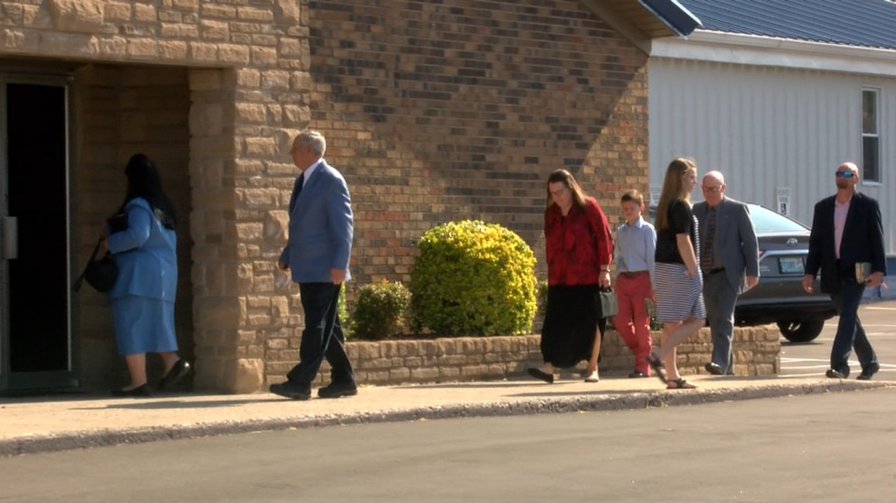 Couples, families, elderly people all went in to Maryville Baptist Church to attend Sunday...