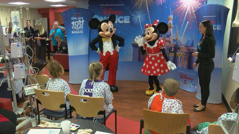 Disney characters met with the children at Norton Children's Hospital on Wednesday. (Source:...