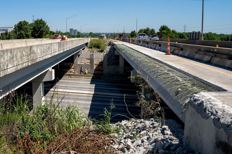 Between the I-71 interchange and Taylorsville Road, the Gene Snyder Freeway will be widened...