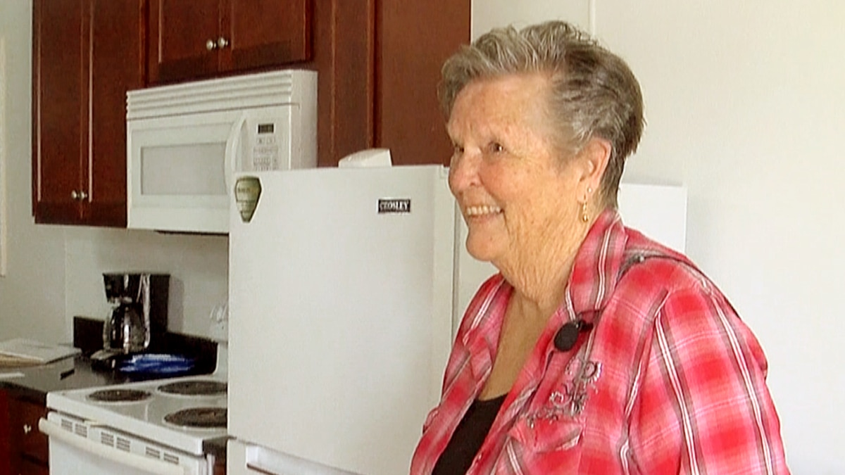 Barbara Kenney, 73, is the newest resident of Veteran's Village, an exclusive tiny home...