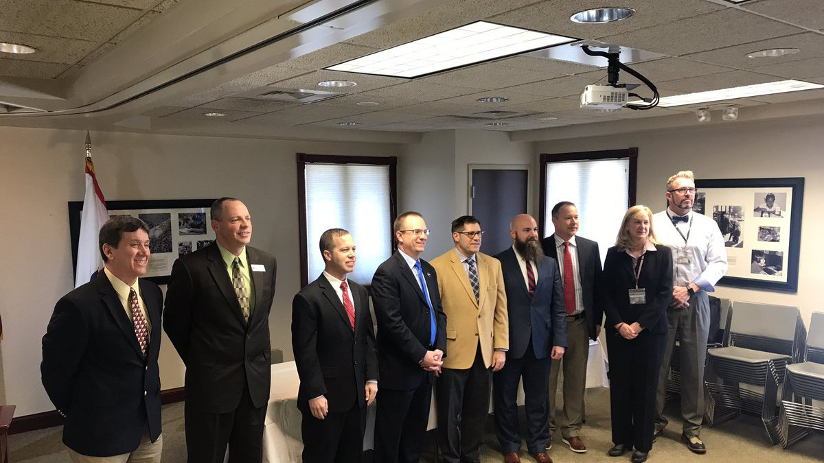 Nine western Kentucky superintendents gathered to voice concerns of HB 205