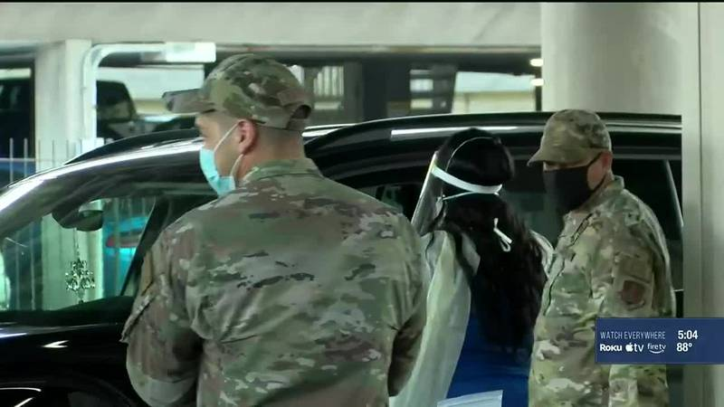 Fifteen Guardsmen and women were deployed to UofL Hospital and Baptist Health Hardin each.