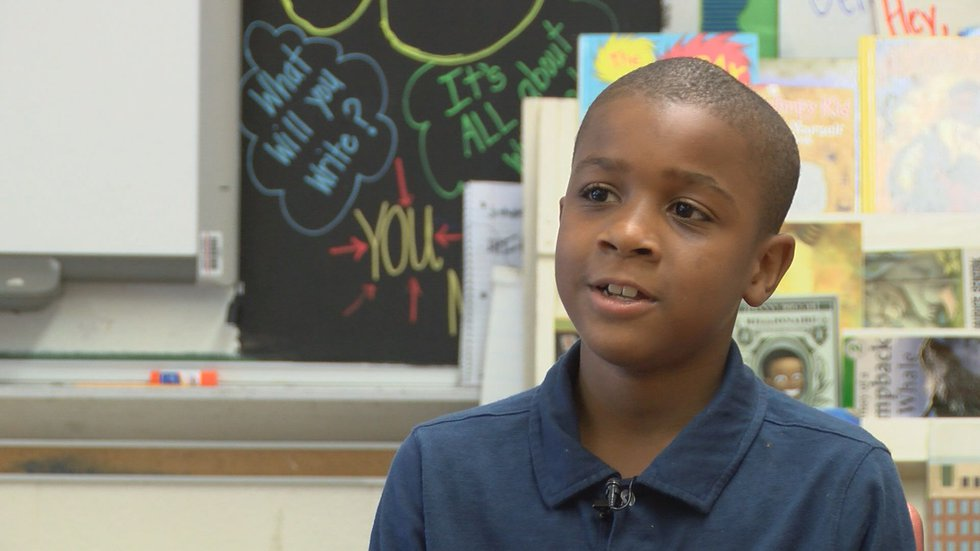 Jeremiah Briscoe, a 4th grader, is one of the students in Real Young Prodigys, makers of the...